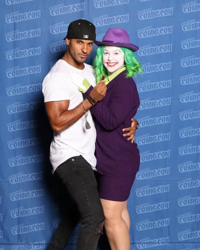 Ricky Whittle aka Shadow Moon on American Gods. the SWEETEST human.